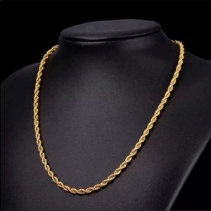 """26"""" New 18K gold plated necklace"""